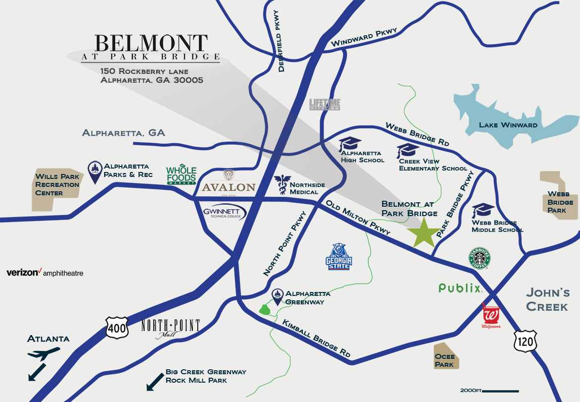 Belmont Park Bridge map