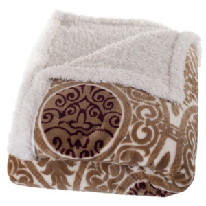 soft fleece sherpa throw