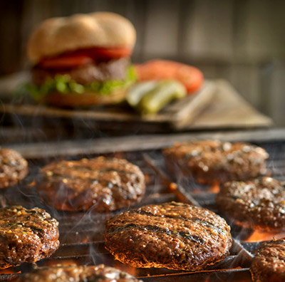 Hamburger on the Grill