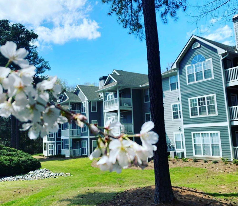 Belmont exterior -spring