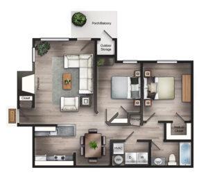 The Preakness floor plan